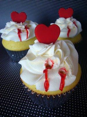 vampire bitten cupcakes! my favorite