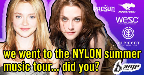 I LOVE that Nylon has no shame advertising their tour with this.