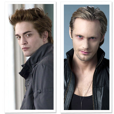 Edward's hair is perfectly coiffed. he has the better hair.